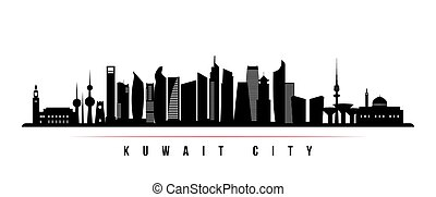 Kuwait city skyline horizontal banner.