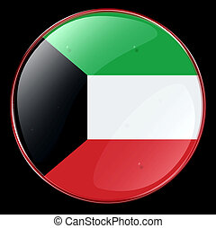 Kuwait Flag Button