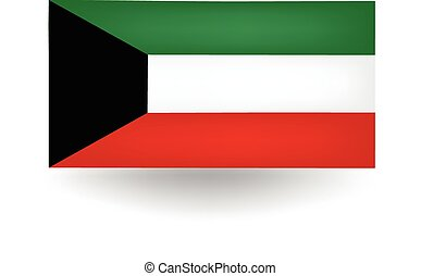 Kuwait Flag - Official flag of Kuwait.