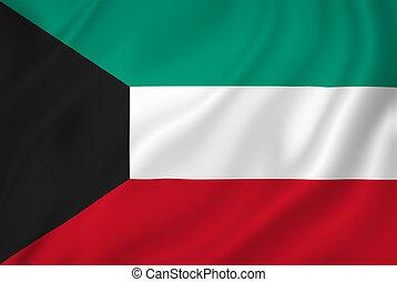 Kuwait flag - Kuwait national flag background texture.