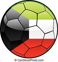 Kuwait flag on soccer ball