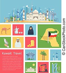 Kuwait Icons Set