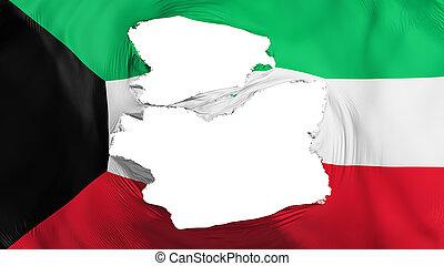 kuwait markierungsfahne, zerfetzt