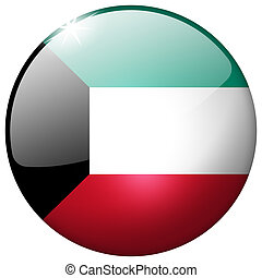Kuwait Round Glass Button