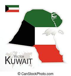 Kuwait ( State of Kuwait ) ( flag and map ) ( transportation...