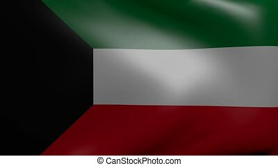 kuwait strong wind flag