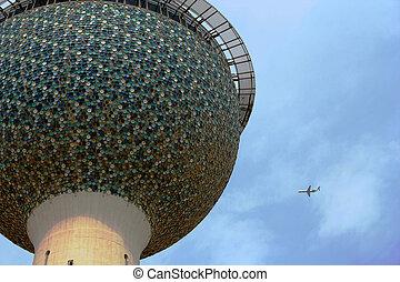 Kuwait Towers & flig