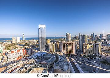 Kuwait Towers in Kuwait City. Kuwait City, Kuwait.