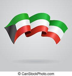 Kuwait waving Flag. Vector illustration