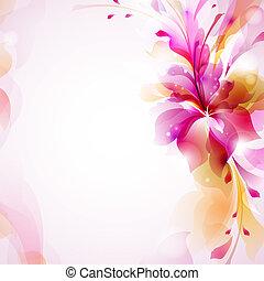 květ, abstraktní