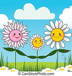 květ, rodina