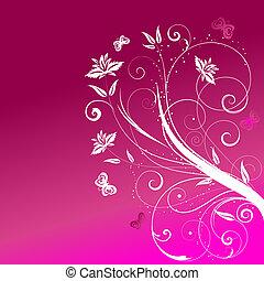 květinový, abstraktní