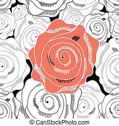 květinový charakter, abstraktní