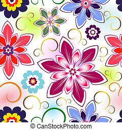 květinový charakter, seamless