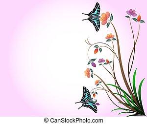 květinový, grafické pozadí