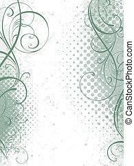květinový, grafické pozadí, vektor