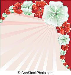 květinový, vánoce, grafické pozadí, 3