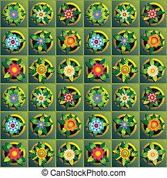 květiny, grafické pozadí