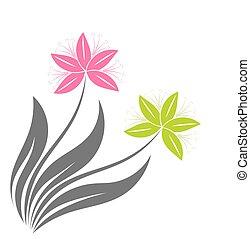 květiny, ilustrace