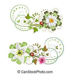květiny, uspořádání