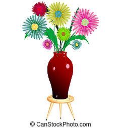 květiny, uspořádání, s, hloupý předsednictví