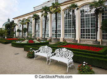 květovat zahradní, čech republika, kromeriz, věž