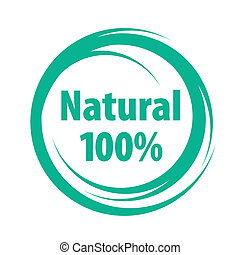 kvalitet, naturlig, tegn