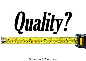 kvalitet reglage, och, mätning, begrepp