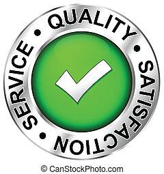 kvalitet, tilfredshed, tjeneste