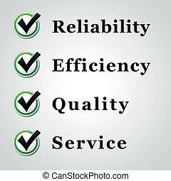 kvalitet, tjeneste