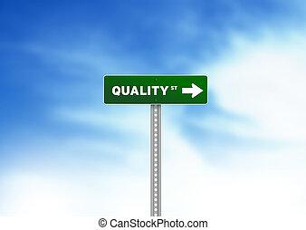 kvalitet, vej underskriv