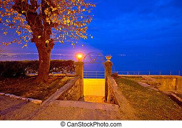 Kvarner bay in Lovran evening view, Croatia