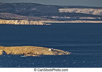 Kvarner bay islands and Prvic lighthouse - Kvarner bay ...