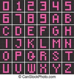 kvarter, huvudstad, alfabet, numrera, sätta, brev, engelsk, z