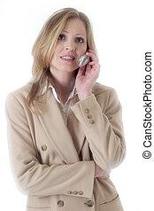 kvinde, beige, branche tøjsæt