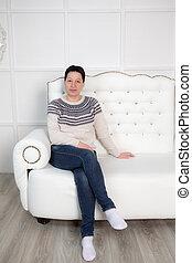 kvinde, divan
