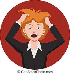 kvinde, frustrer