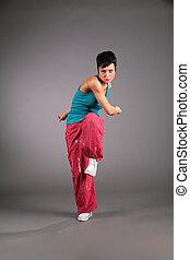 kvinde, gør, af, aerobics