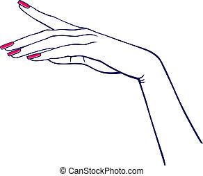 kvinde hånd