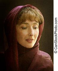 kvinde, halstørklæde