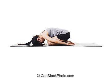 kvinde, kinesisk, yoga.