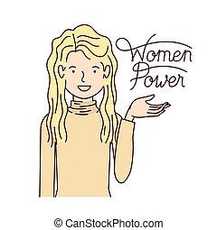 kvinde, magt, karakter, etikette, avatar, kvinder