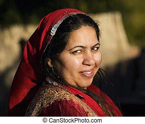 kvinde, muhammedansk, udendørs