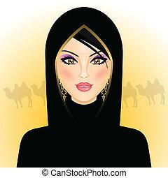 kvinde, rab, ørken