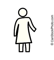 kvinde, silhuet, figur, ikon