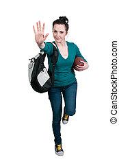 kvinde, spille fodbold
