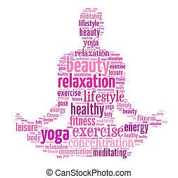 kvinde, yoga poser