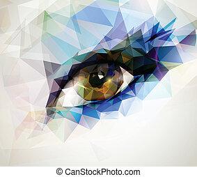 kvindelig øje