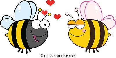 kvindelig, kigge, cute, bi
