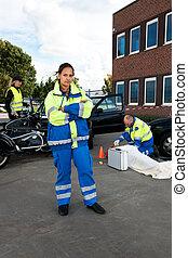 kvindelig, paramedic